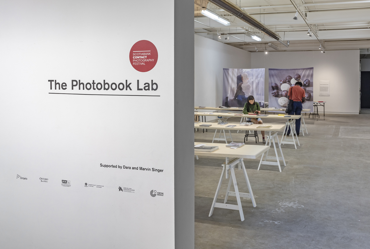 Installation at Scrap Metal Gallery, Toronto, 2019. , The Photobook Lab, Photo: Toni Hafkenscheid. Courtesy CONTACT.