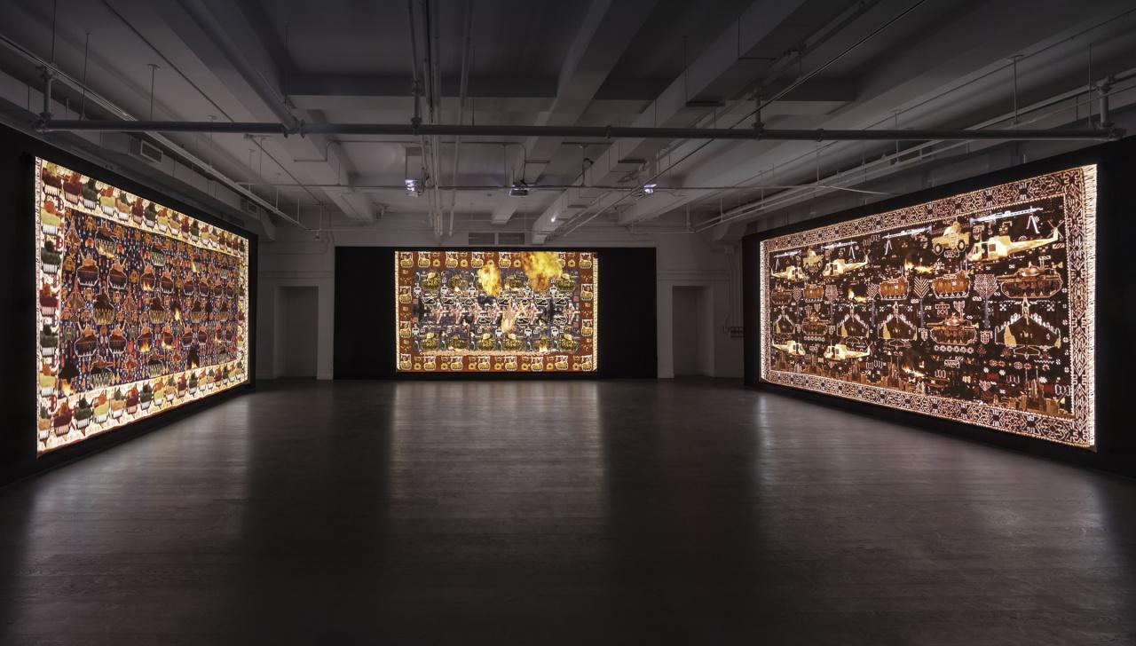 Installation view, Nevet Yitzhak, WarCraft, Photo: Toni Hafkenscheid.
