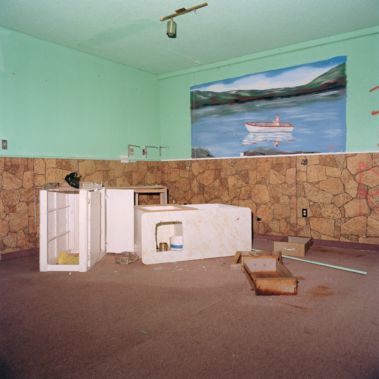 Ethan Murphy, Abandoned Room, from the series WheretheLightShinesFirst, 2017. Courtesyoftheartist