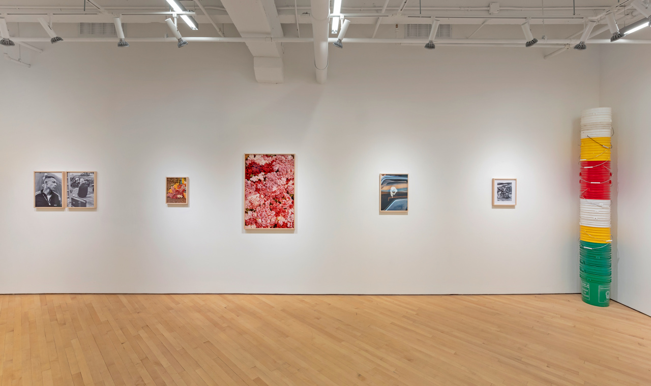 Installation view of Luis Mora, Say it with Flowers, Oct. 17–Nov. 30, 2019, CONTACT Gallery. Documentation photo by Toni Hafkenscheid.