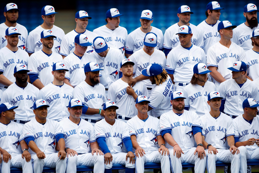 Cole Burston, Getty Images, Toronto Blue Jays Team Photo at Rogers Centre, Toronto, Ontario, 2019