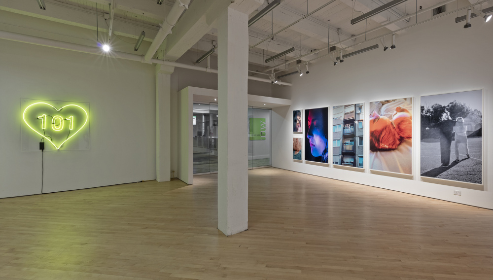 Installation view of Petra Collins, Pacifier, photo by Toni Hafkenscheid.