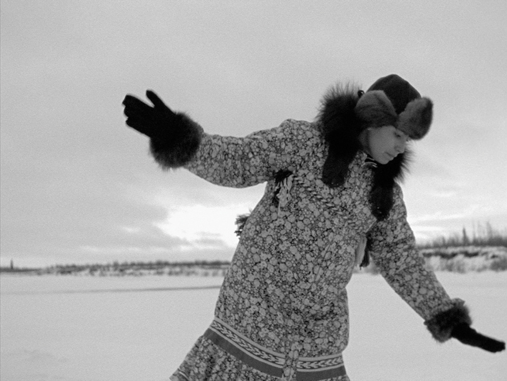 NFB Archives, The Herd, 1998. Film still from Michelle Latimer's  , Nimmikaage (She Dances for People), from the series Souvenir, 2015 © National Film Board of Canada.