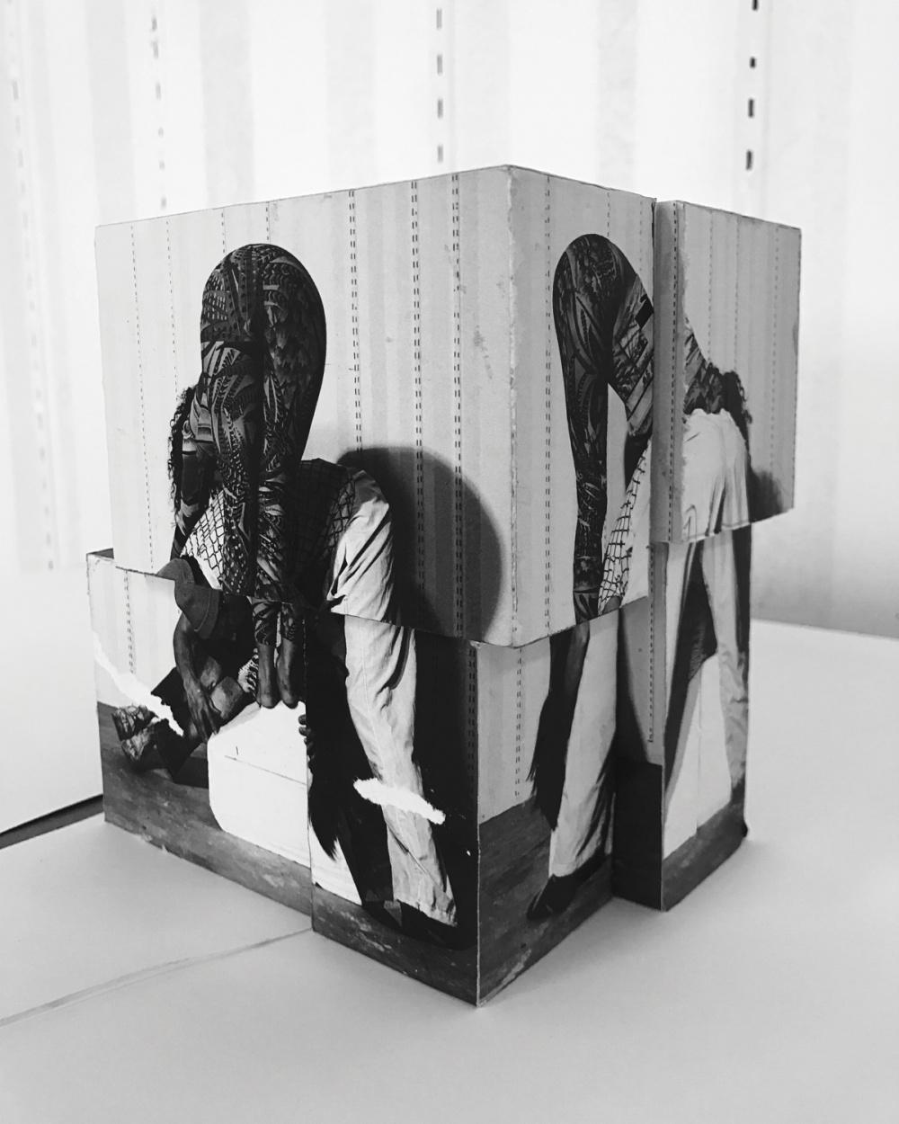 Valérie Blass, Étude Préliminaire, Maquette, Bleached Jeans, 2017. Courtesy of Catriona Jeffries Gallery, Vancouver.
