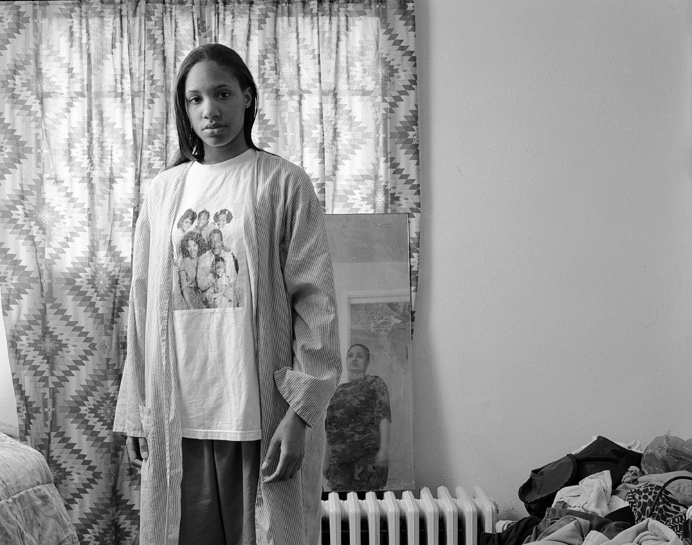 LaToya Ruby Frazier, Huxtables, Mom and Me, 2008. Gelatin silver print, 24 x 28