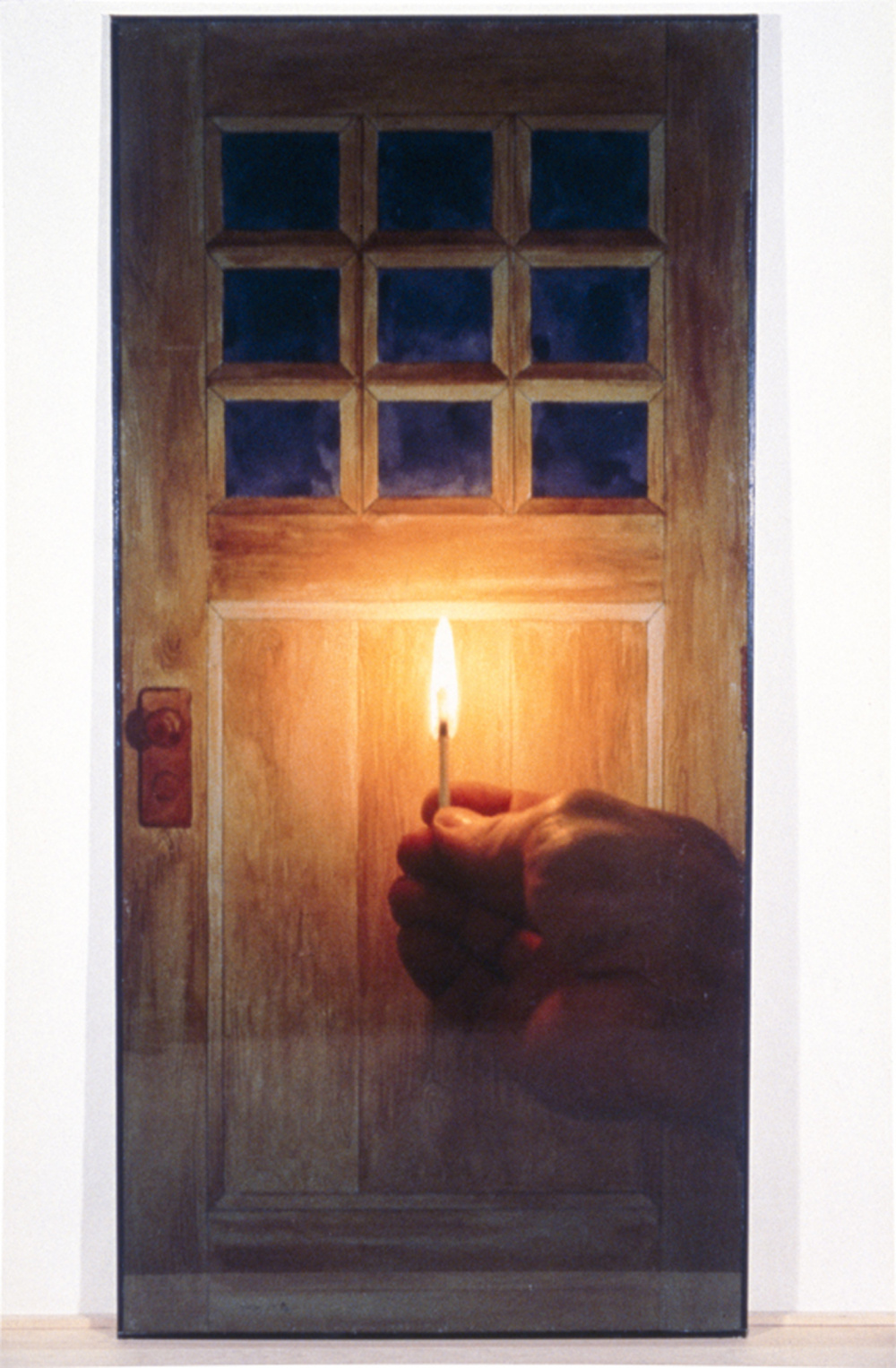 Michael Snow, Door, 1979. Colour photograph, 90.2 x 46.9 x 5.9