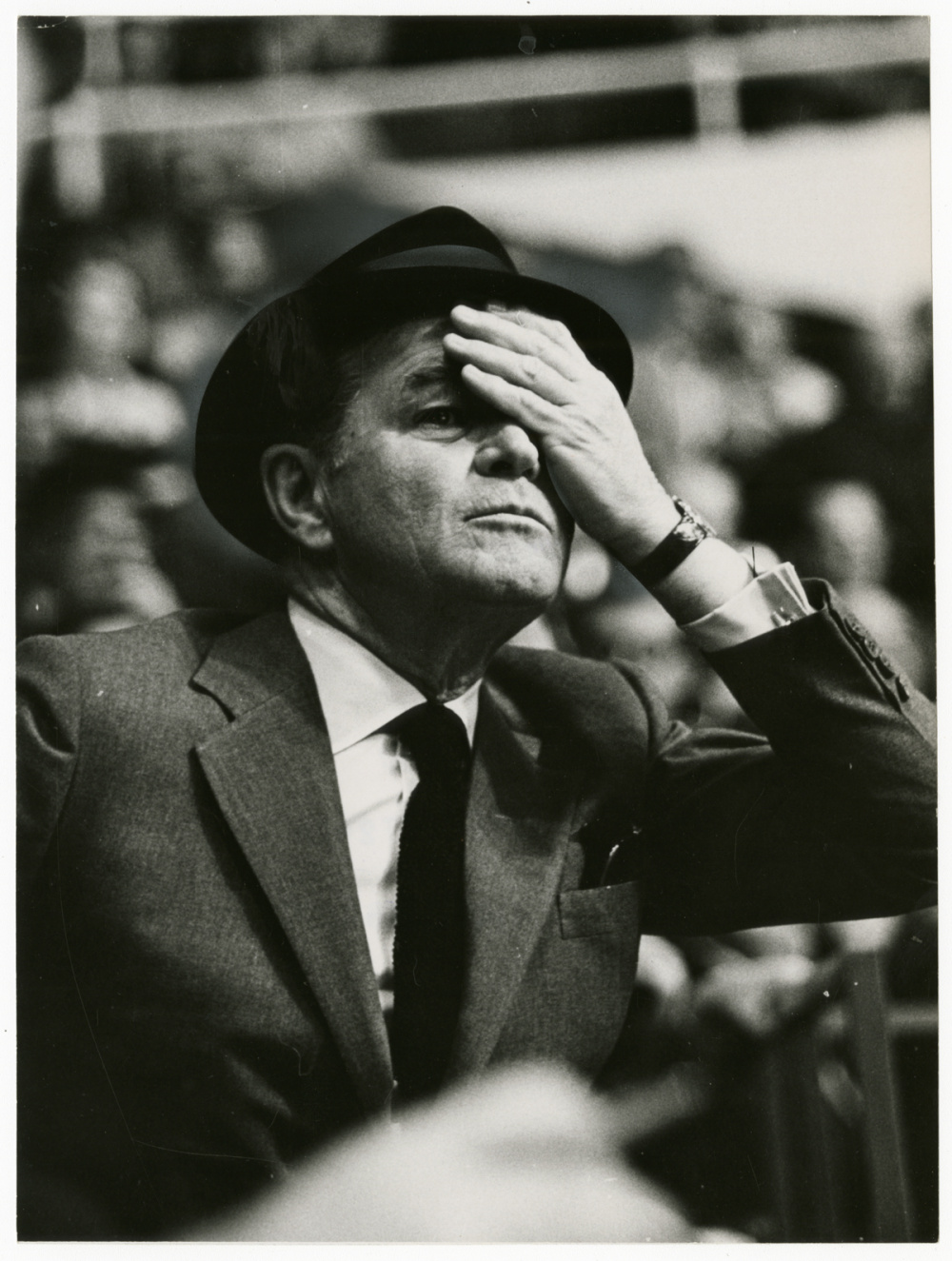 Fred Ross, Jack Kent Cooke, sports team owner, 1967. Gelatin silver print, 9 x 7
