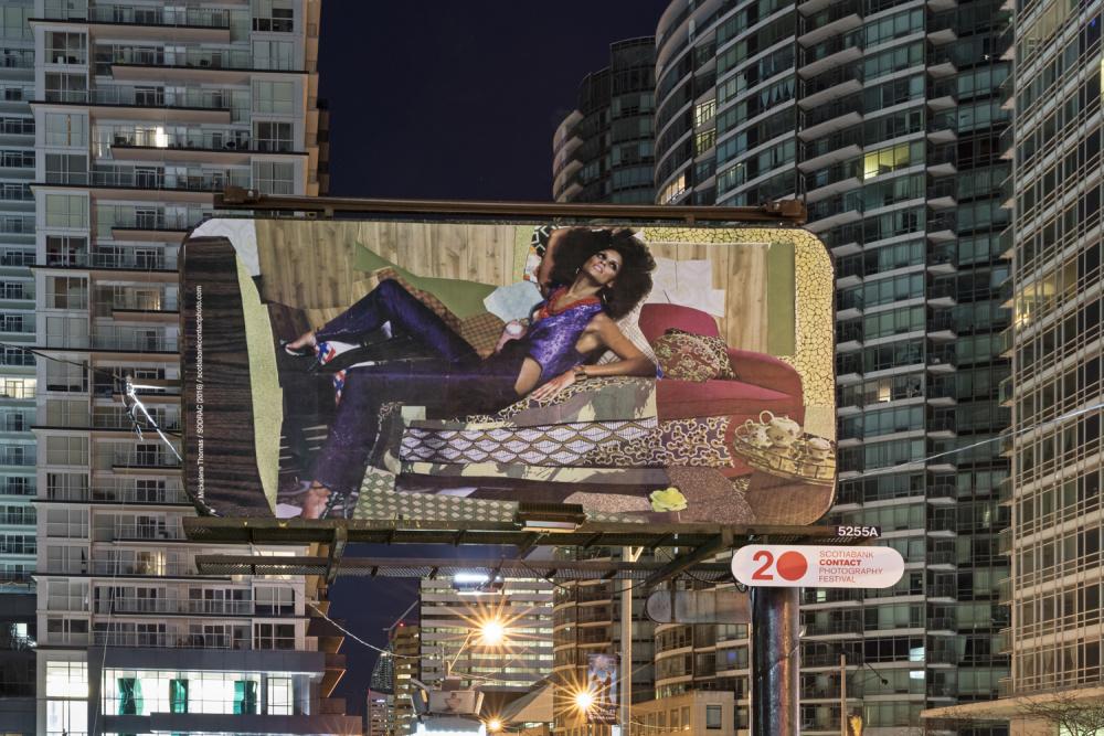 Installation view of Mickalene Thomas, What it Means to be Beautiful, (Toronto). Photo: Toni Hafkenscheid