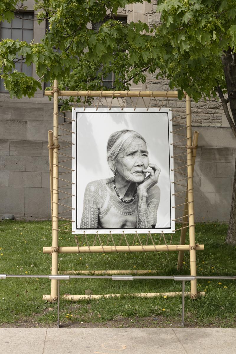 Installation view of Jake Verzosa's, The Last Tattooed Women of Kalinga, Photo: Toni Hafkenscheid