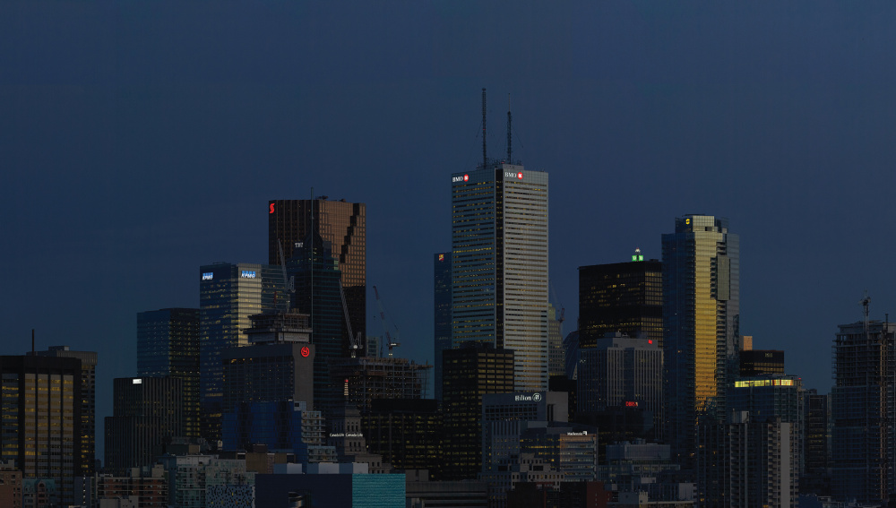 Aude Moreau, Downtown Toronto (twilight time), 2016