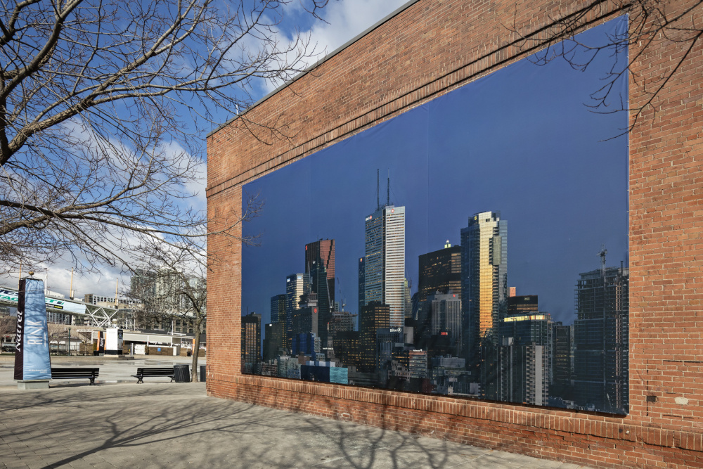 Installation view of Aude Moreau's, Downtown Toronto (Twilight Time), Photo: Toni Hafkenscheid