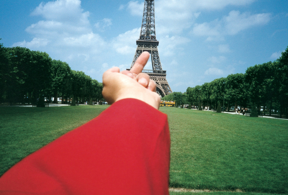Ai Weiwei, Study of Perspective - Eiffel Tower, Paris, France, 1995-2010 Courtesy of the artist and Galerie Urs Meile, Beijing-Lucerne