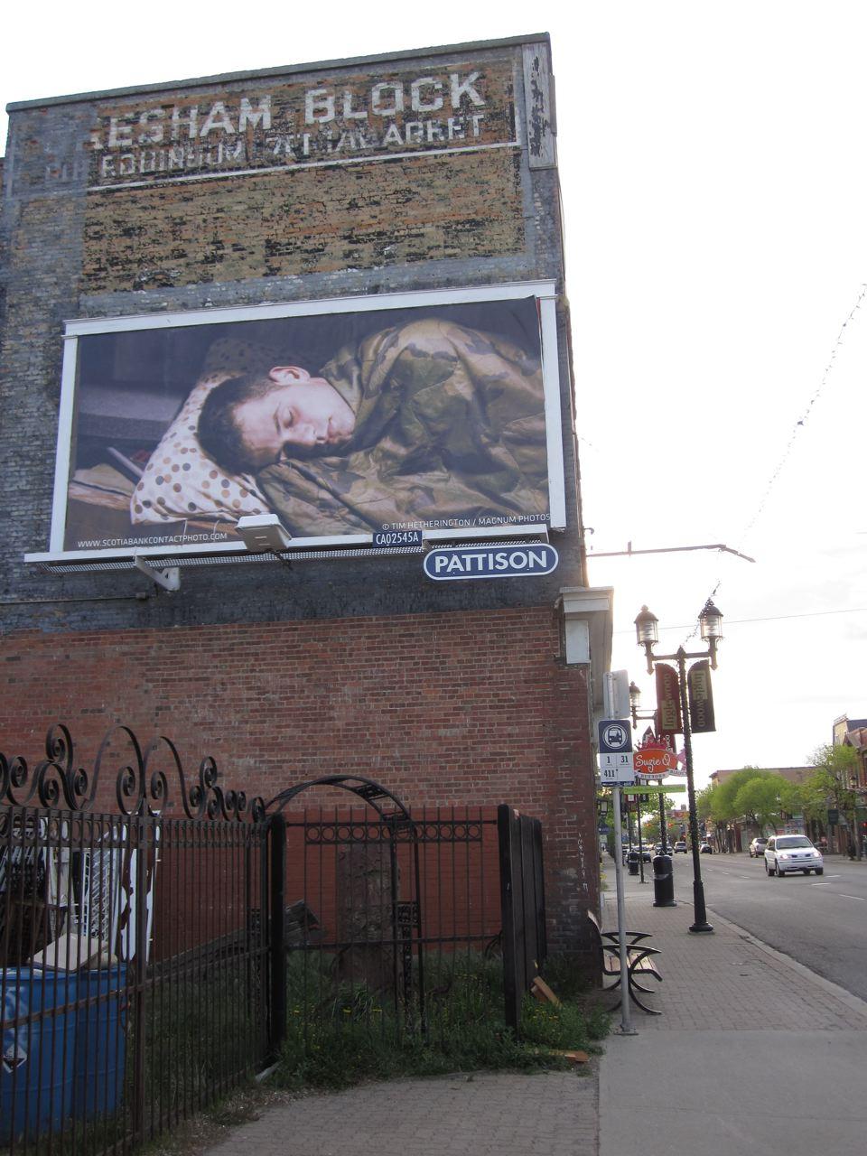 Tim Hetherington, Sleeping Soldiers, 2012 in Calgary, AB. Image credit Aisia Salo