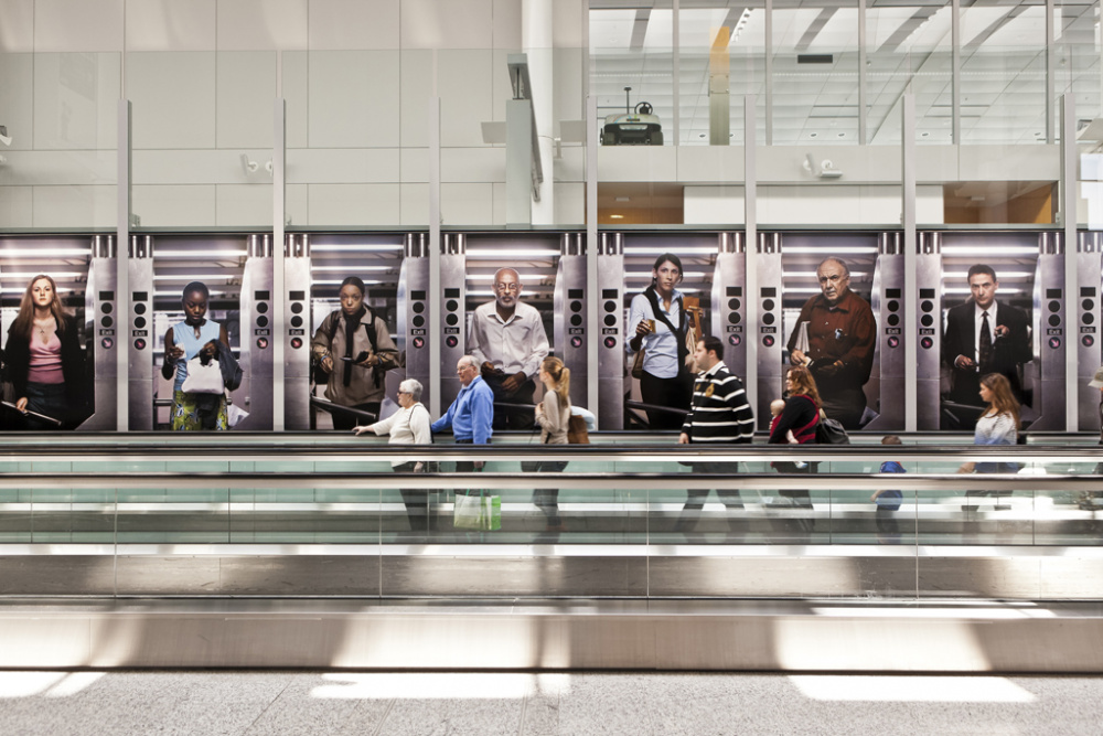Bill Sullivan, More Turns (The Subway Turnstile Pictures), 2012 Image credit Toni Hafkenscheid