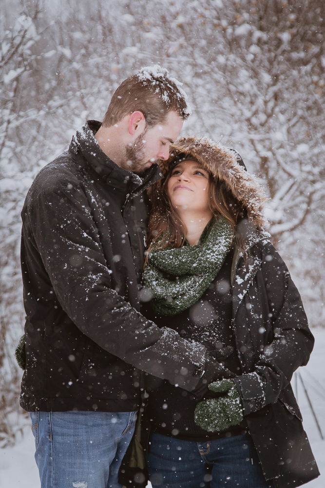 Winter Maternity Photography In Blue Mountain Ontario
