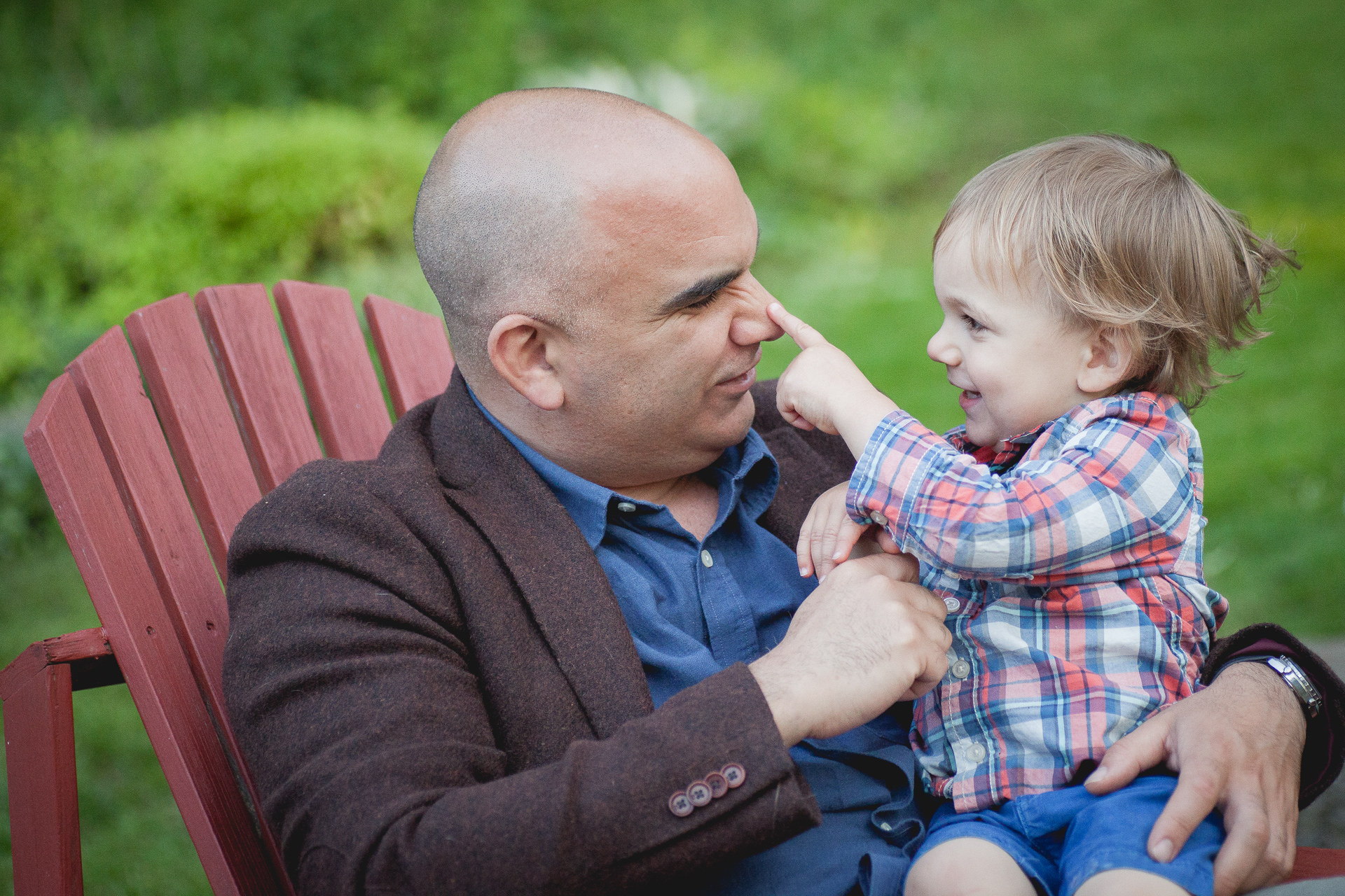 Father and son photo in Grimsby, Ontario