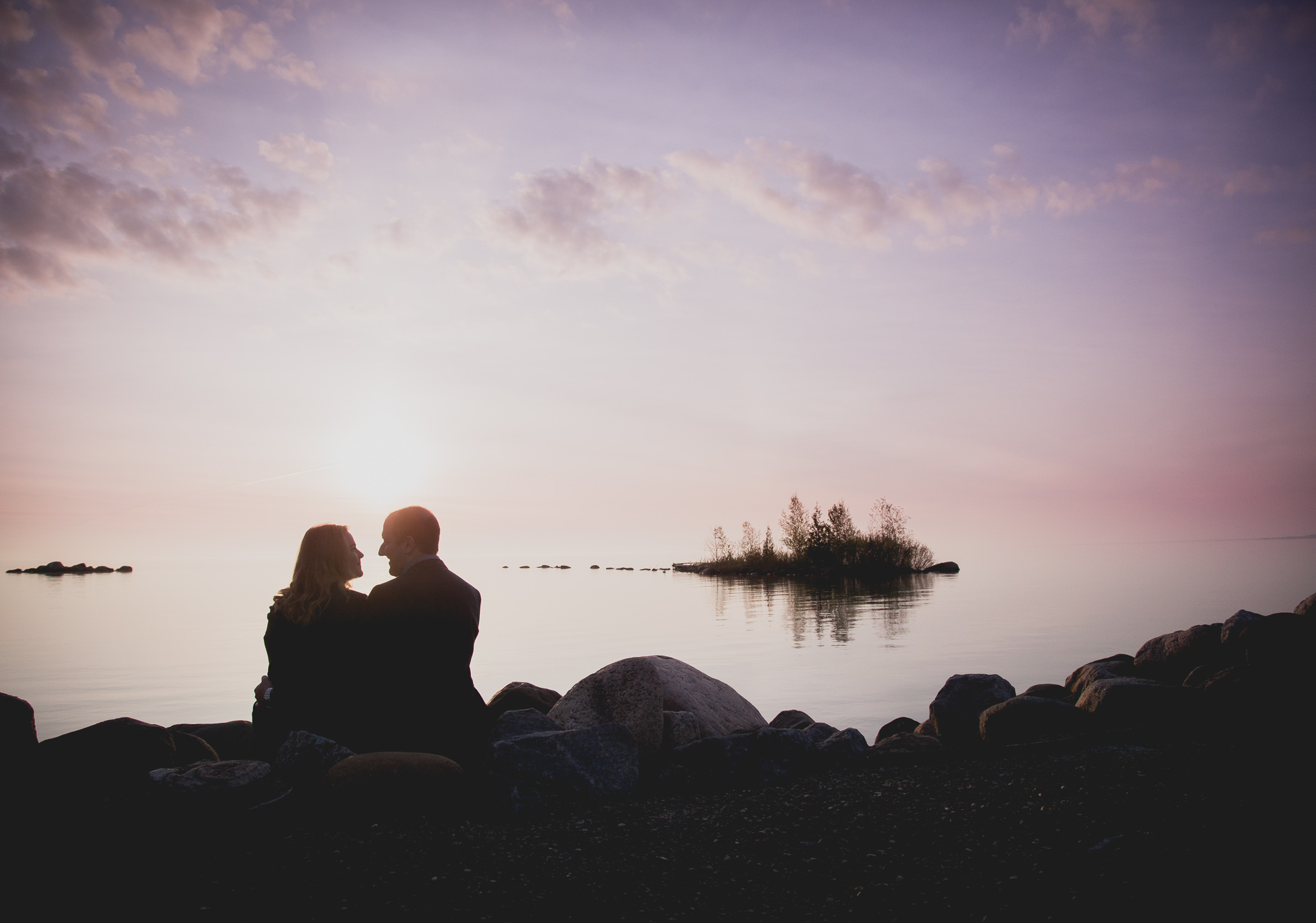 waterfront engagement photography