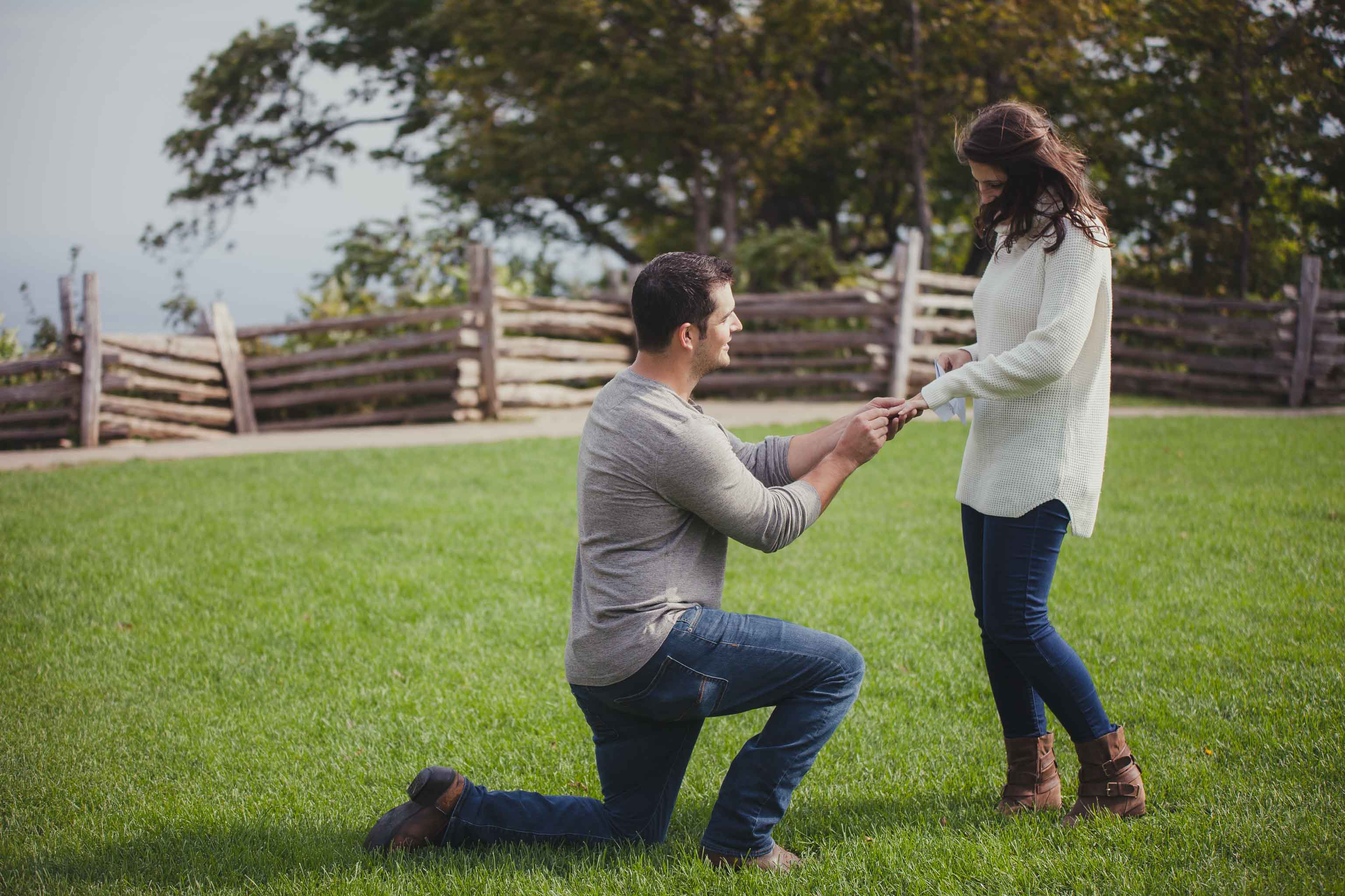 Blue Mountain fall proposal photography