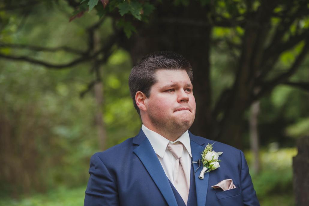 owen sound wedding ceremony groom