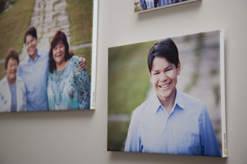 family photography canvas panel