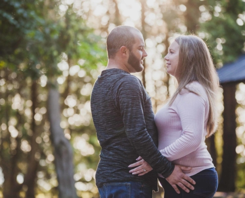 sunset engagement photography in Owen Sound