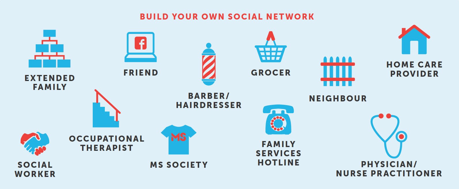 Build your own social network infographic