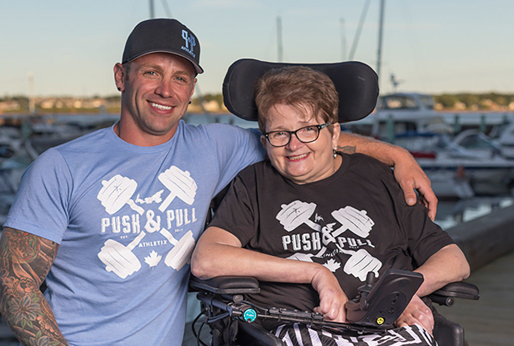 Blake, I Challenge MS participant and creator of Push & Pull Athletix