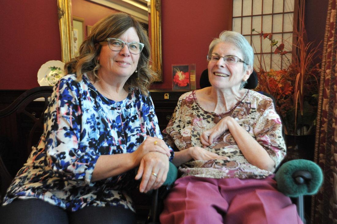 Clare and Robin for the MS Society at the Devonshire Care Centre located in Edmonton