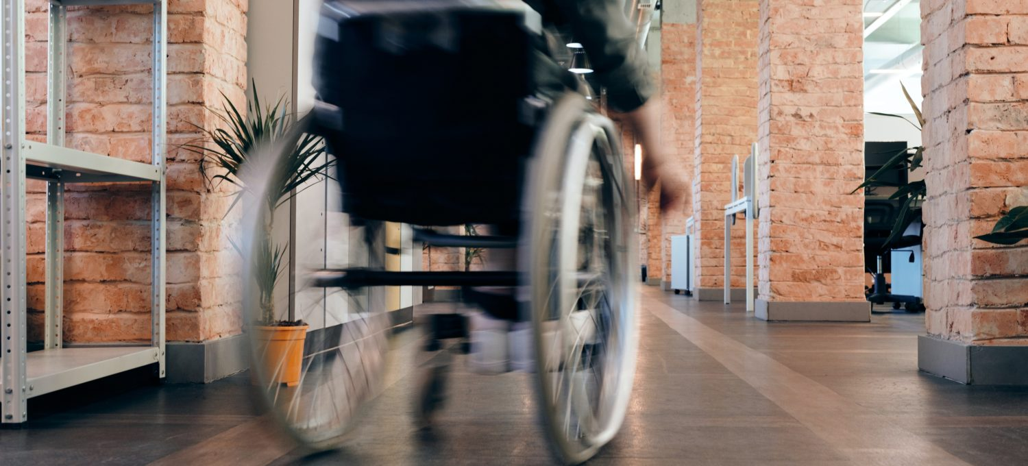Photo of a person on a wheelchair