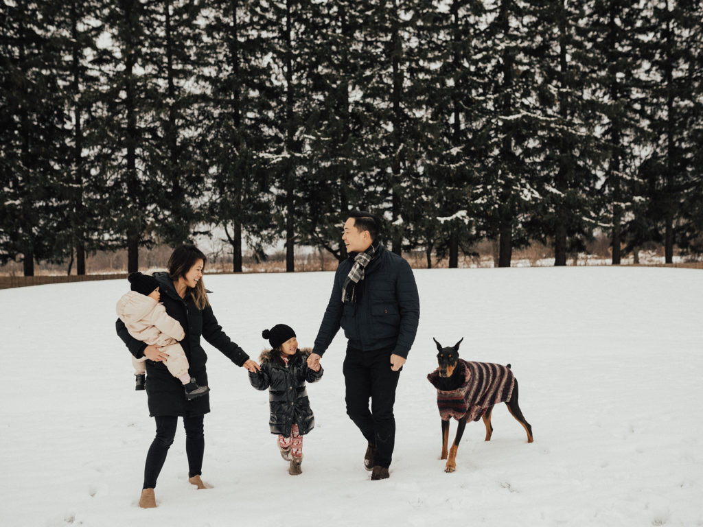 Photo of Catherine and her family