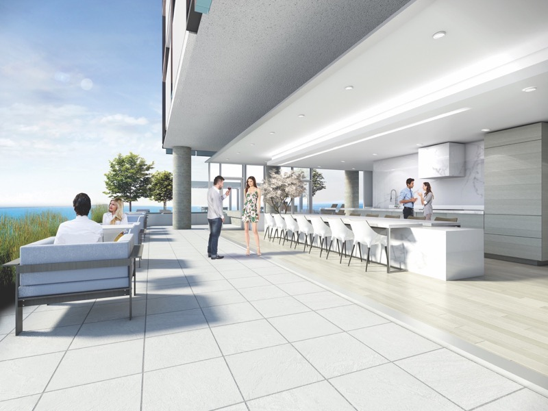 Nautique Condos Outdoor Bar