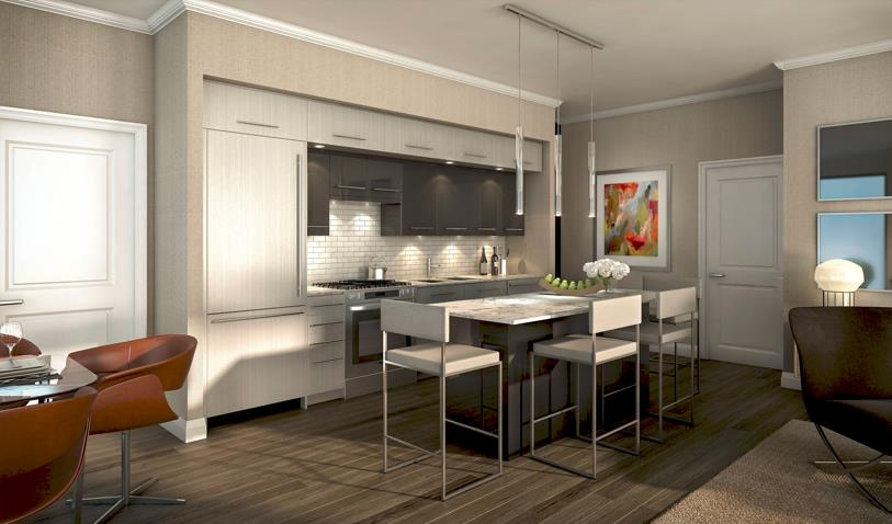The Davies Condos Interior Kitchen