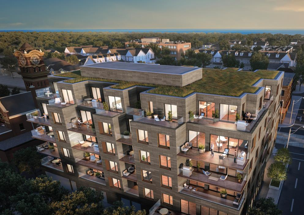 Heartwood on the Beach Condos Exterior Aerial View