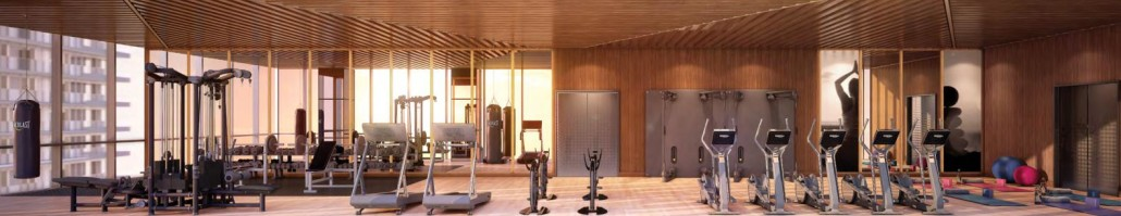 The Lakeshore Condos Gym