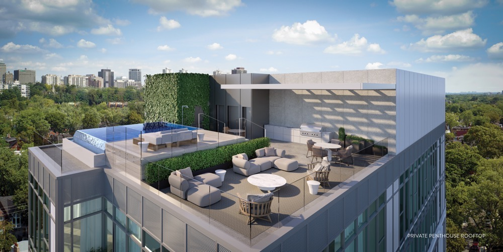 View of the Terrace at 346 Davenport Condos