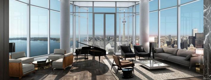 Ten York Condos Penthouse 10 Living Room