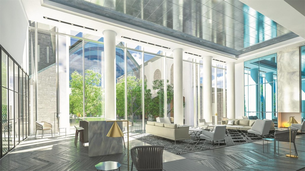 Lobby rendering of Blue Diamond Condos