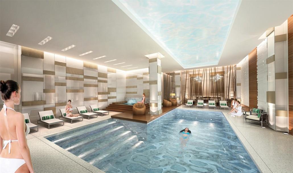 Pool at Blue Diamond Condos