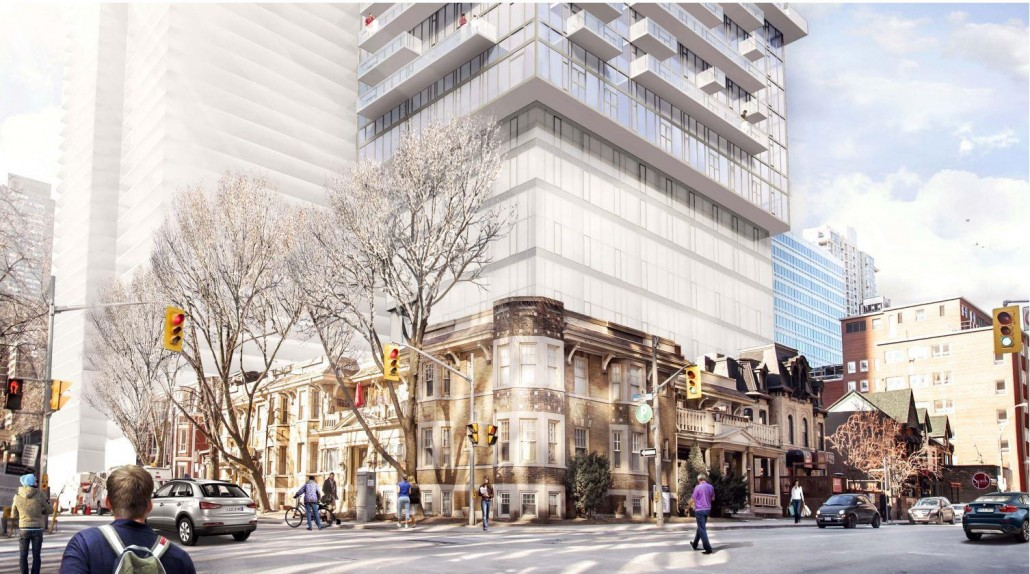 Podium rendering of Church and Charles Condos
