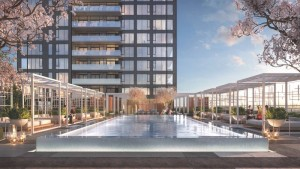 View of the rooftop pool at Rodeo Drive Condos