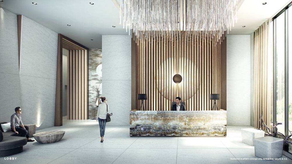 Lobby Rendering of Vita on the Lake Condos