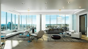 Living room with a view at Yorkville Private Estates