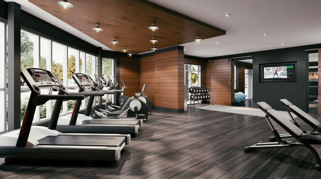 Gym at Affinity Condos