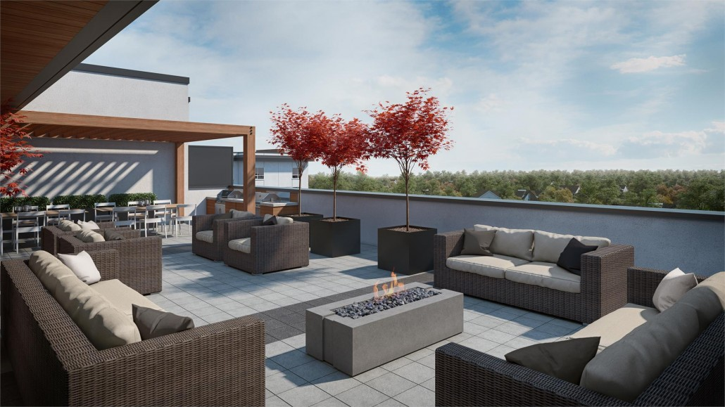 Rooftop lounging area at Affinity Condos