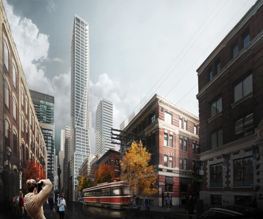 Early rendering of 401 King Street Condos