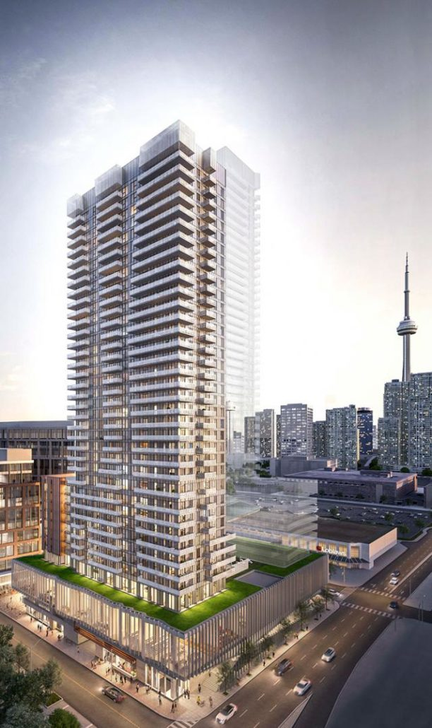 Exterior rendering at Lighthouse Condos East Tower