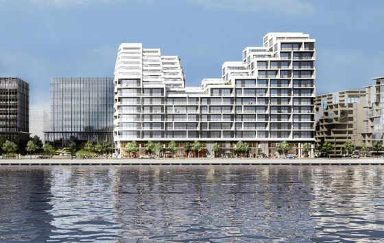 Aquabella Condos Exterior view from the Lake
