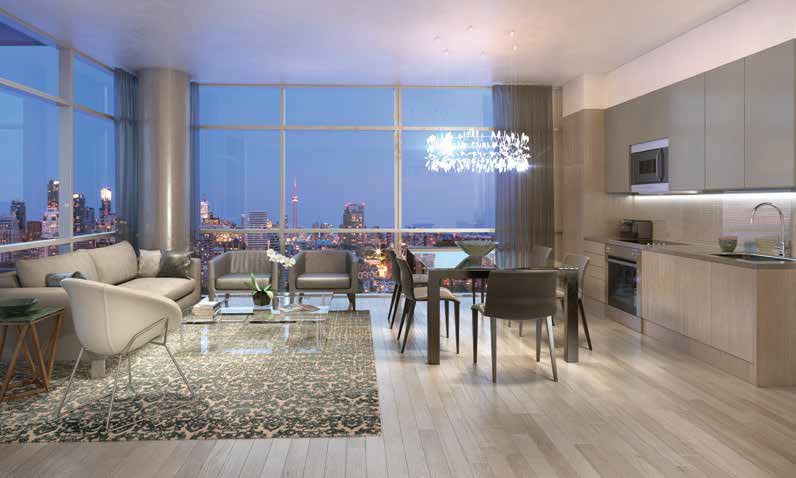 Interior rendering at AYC Condos