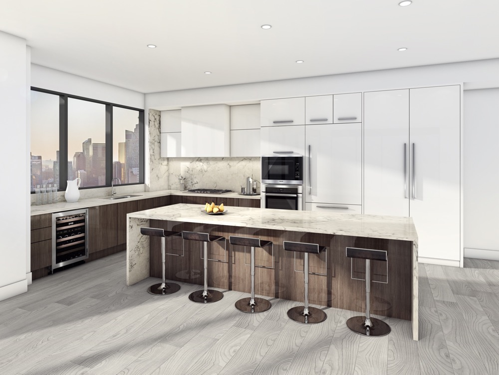 Aquabella Condos Kitchen Rendering