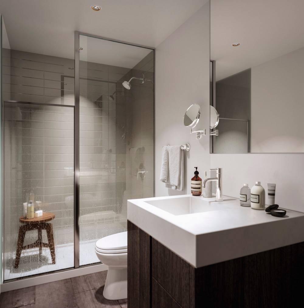 Bathroom Rendering at Home Condos